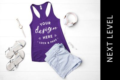 Download Purple Rush Next Level 1533 Tank Top Summer Fashion Mockup Psd Mockup Template In 2020 Psd Mockup Template Design Mockup Free Mockup Template