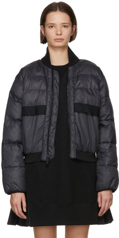adidas by Stella McCartney Black Short Padded Jacket in