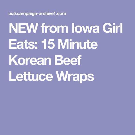 Korean Beef Lettuce Wraps Recipe Noodle Bowls Beef Noodles