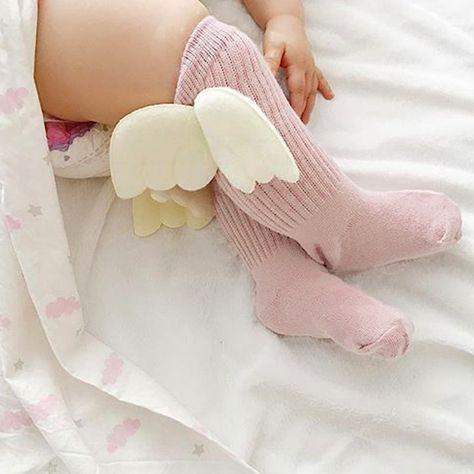 Girls Fashion Tights Toddler High Knee Stockings Leg Warmer Baby Wings Socks