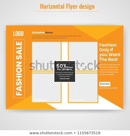 Modern Fashion Sales Off Flyer Template Horizontal Flyer Design Advertisement Presentation Magazine Page A4 Size Vector Il Flyer Fashion Sale Flyer Design