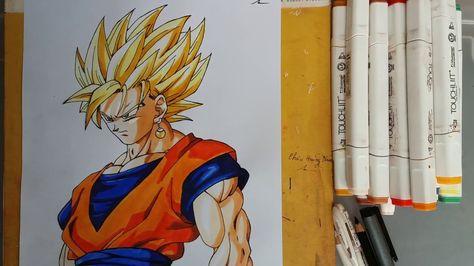 Vẽ Son Goku Super Saiyan 2 Ssj2 Drawing Goku Dragon Ball