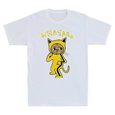 Bruce Lee Yellow suit Martial Arts Cat Men/'s Tee Cotton Short Sleeve Tee