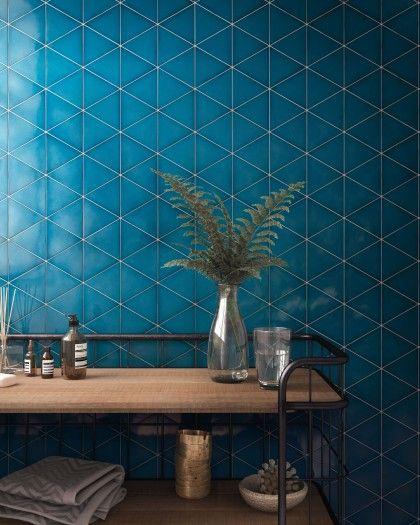 Scale Ceramic Tileworks Minnesota Blue Bathroom Tile Blue Tile Wall Triangle Tiles