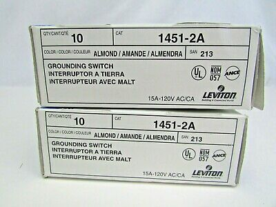 Details About 20 New Leviton 1451 2a Almond Single Pole Toggle Wall Light Switches 15a 120v In 2020 Light Switch Whirlpool Washing Machine Switches
