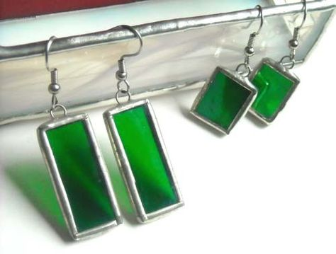 http://www.etsy.com/listing/63783365/green-stained-glass-earrings-2-pair