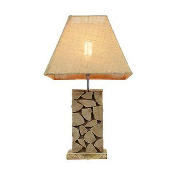 Wholesale Handmade Wood Base Design Table Lamp For Home Decor Wood Lamp Base Home Decor Table Lamp