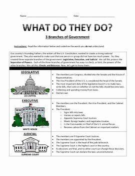 50 Branches Of Government Worksheet Pdf In 2020 Branches Of