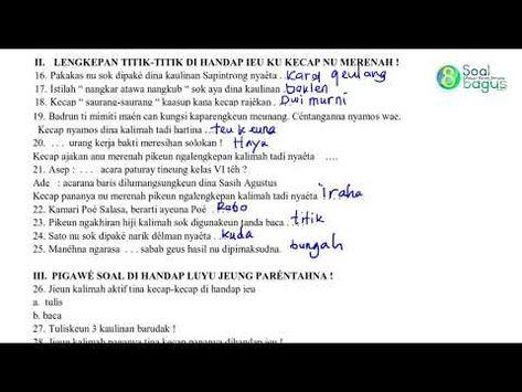 Soal Pts B Sunda Kelas 5 Isian Dan Essay Semester 1 Dan Jawaban Kurikulum Buku Pemerintah