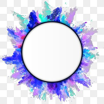 Circular Frame Color Frame Color Splash Frame Round Frame Vector Art Clipart Frame Color Png And Vector With Transparent Background For Free Download Watercolor Splash Watercolor Flower Wreath Color Splash