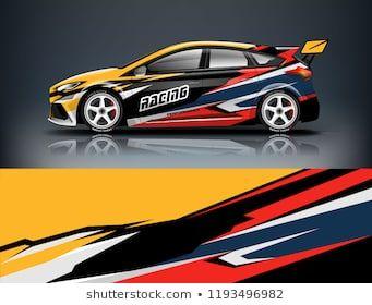 Car wrap design  Livery design for racing car  sedan