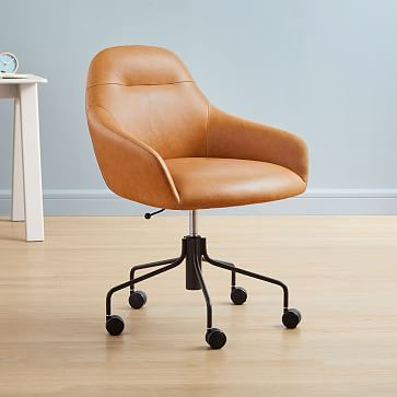 Valentina Leather Office Chair Leather Office Chair Upholstered