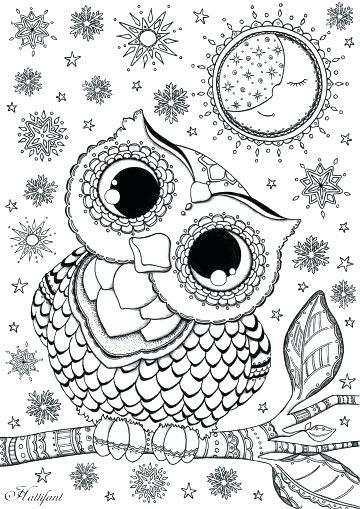 Owl Mandala Coloring Pages Free Printable Owl Mandala Coloring