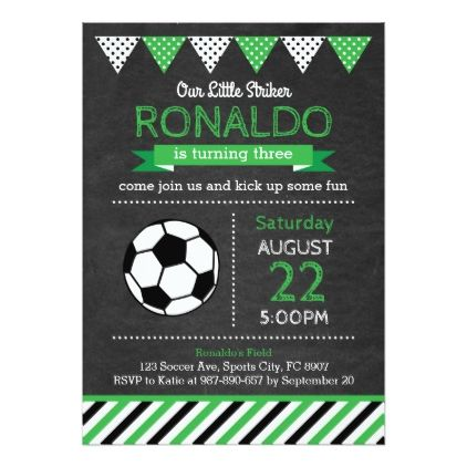 soccer party invitation football 5 a