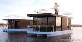 Sudnik Motoryachts Htr Suno House Boat Houseboat Living Floating House