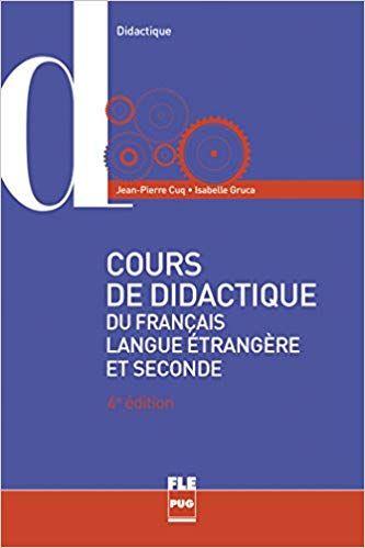 Cours De Didactique Du Francais Langue Etrangere Et Seconde Pdf