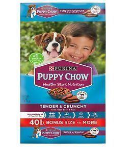 Purina Puppy Chow Tender Crunchy Dry Dog Food 40 Lbs