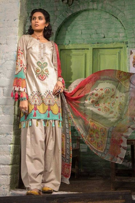 79c7ffa085 M.PRINTS By MARIA.B Pakistani Dress Lawn Collection 2019 MPT-510-A ...