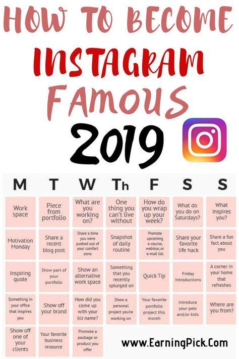 Astuces marketing Instagram pour développer votre compte en 2019 et devenir une célébrité ...
