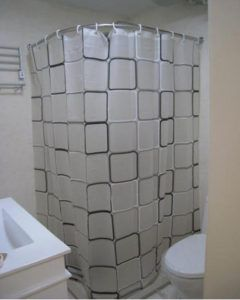 Curved Shower Curtain Rod For Corner Bath Showers