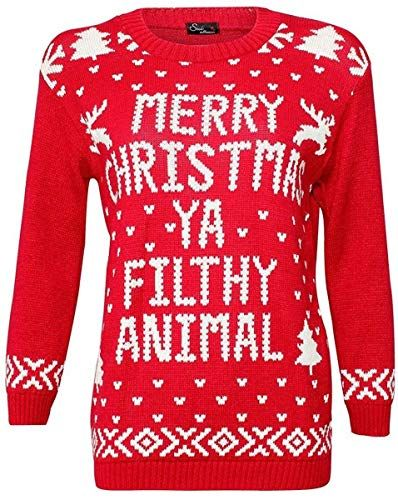 Mens Womens Ladies Merry Christmas Pom Pom Novelty Jumper Vintage Sweater Tops
