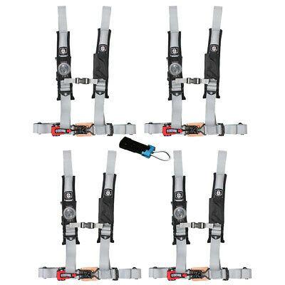 Ebay Advertisement Pro Armor 4 Point Harness 2 Pads Seat Belt W Bypass Silver Rzr Xp 1000 900 4pk Rzr Xp Seat Belt Ebay