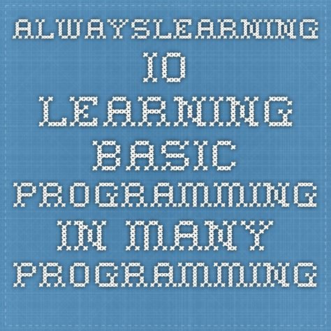 alwayslearning io learning basic programming in many