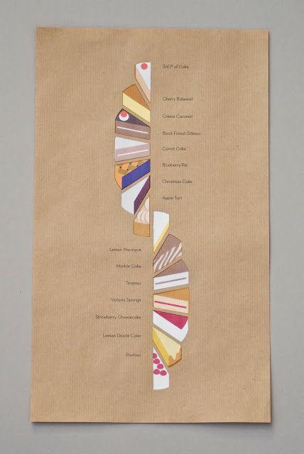 Adorable illustration/menu/layout for desserts Fourchette en carton: Linus Kraemer