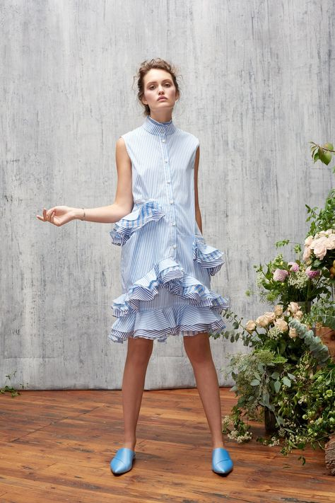 Audra Spring 2018 Ready-to-Wear collection, runway looks, beauty, models, and reviews.