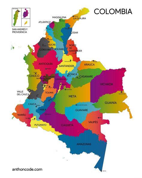 Mapa De Colombia Para Pintar E Imprimir En Pdf Más Vector En 2021 Mapa De Colombia Cultura De Colombia Bandera De Colombia