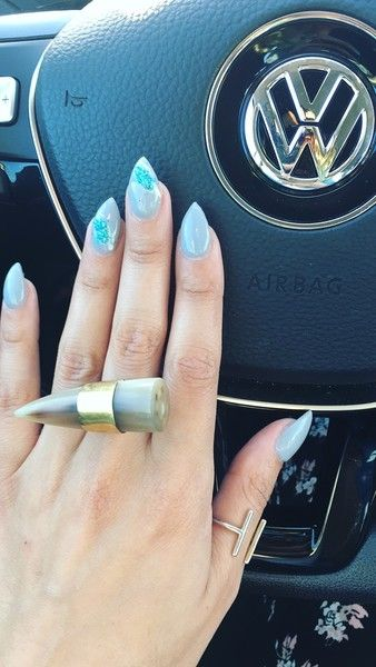 Subtle Teal Gleam - Gorgeous Geode-Inspired Designs Are the Newest Trend in Nail Art - Photos