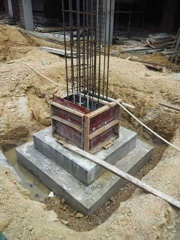 Types Of Footings Used In Building Construction In 2020 Building Construction Concrete Cost Construction