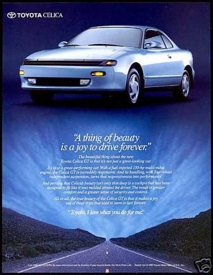1990 Toyota Celica Gt Ad Toyota Celica Toyota Classic Cars