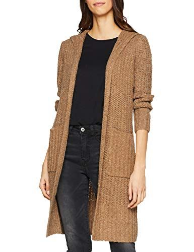 damen cardigan strickjacke camel