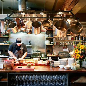 Restaurant Kitchen the expansive open kitchen at oenetri in napa, a southern italian
