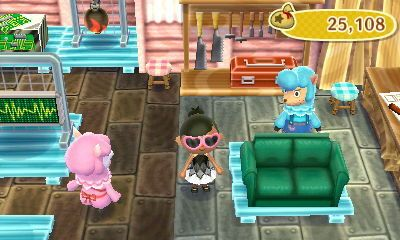 Simple Love Seat Sofa Color Green Cost To Customize 205 Bells Animal Crossing New Leaf Custom