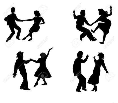 25 Ideas For Swing Dancing Silhouette Couple