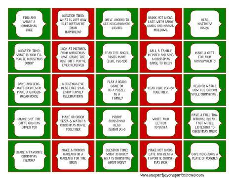 Days Of Christmas Activities Advent Calendar  Advent Calendars