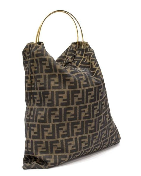 Fendi Monogram Canvas Gold Ring Monogram Fendi Tote Bag. Get one of the  hottest styles. 詳細. Fendi Totes on Sale - Up to 70% off at Tradesy 9d2781db5d201