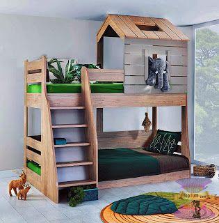 موديلات غرف الأطفال 2021 بارقى تصميمات غرف نوم الاطفال سرير دورين للأطفال Ikea Kids Home Decor Bed