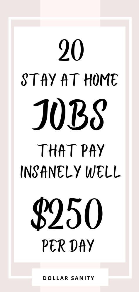20 Work at Home Jobs that Pay Real Money