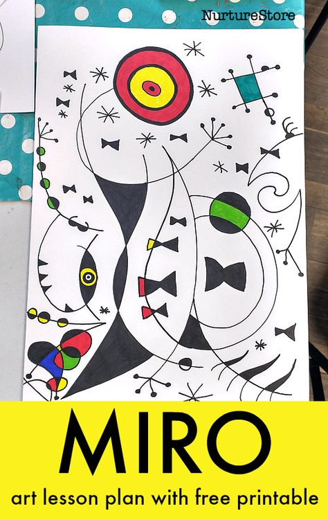 Draw Like Miro With This Free Art Lesson Draw Like Miro With This Free Art Lesson Print An Art Dice Of Decision And Let It Guide Your Masterpiece Joan Miro Art Lesson Plan Printable Famous Artists Art Projects For Children Easy Miro Art Project For Kids Joan Miro Paintings, Famous Artists Paintings, Oil Paintings, Easy Art Projects, School Art Projects, Children Art Projects, Art For Children, Art History Projects For Kids, Halloween Art Projects
