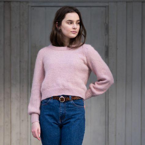 Eben Genser | Enkel genser dame garnpakke av HipKnitShop