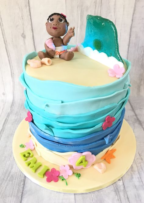 Fabulous Moana Birthday Cake Moana Birthday How To Make Cake Funny Birthday Cards Online Chimdamsfinfo
