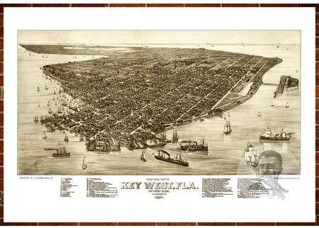 18x24 1875 Salt Lake City Utah Vintage Old Panoramic City Map