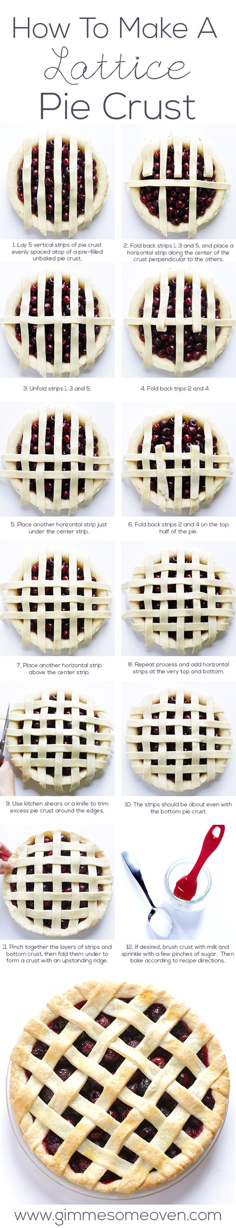 // How To Make A Lattice Pie Crust