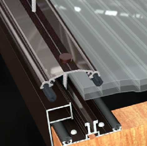 Aluminium Glazing Bar For 4mm Glass Glass Roof Glass Container Buildings