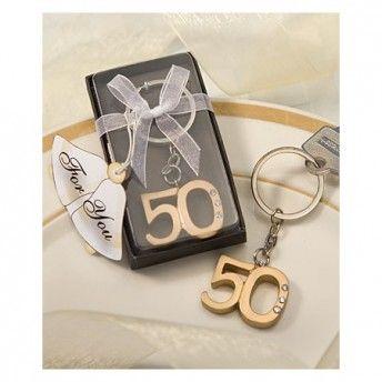 Cinquantesimo Anniversario Di Matrimonio.Portachiavi 50 Anniversario Di Matrimonio Anniversario Di