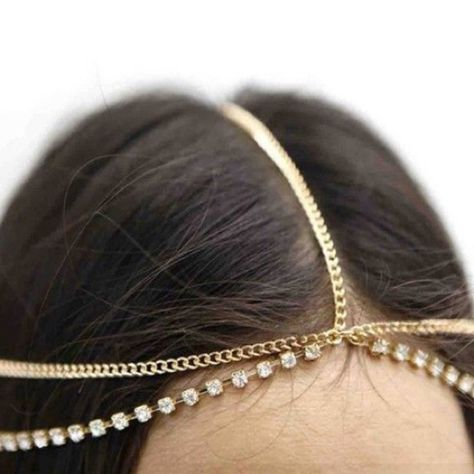 Chain and jewel headchain Cute and tribal crystal and gold headchain available in gold and silver. Can be dressed up or down. Brand new.  Brandy Melville Jewelry