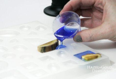 DIY Wood and Resin Pendant using EasyCast